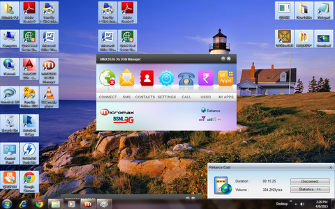IF You Set the Desktop Screen As Wallpaper Then Keep the Original Icons Some Whre Else