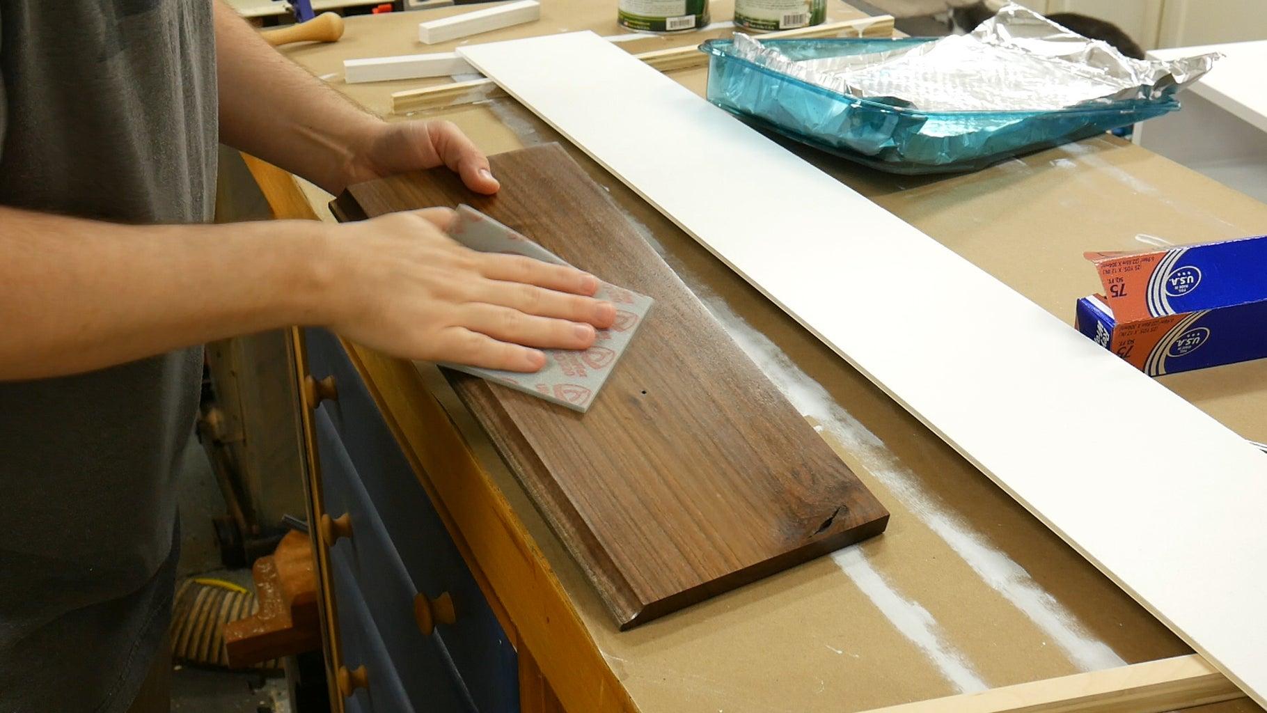 Varnishing Drawer Fronts