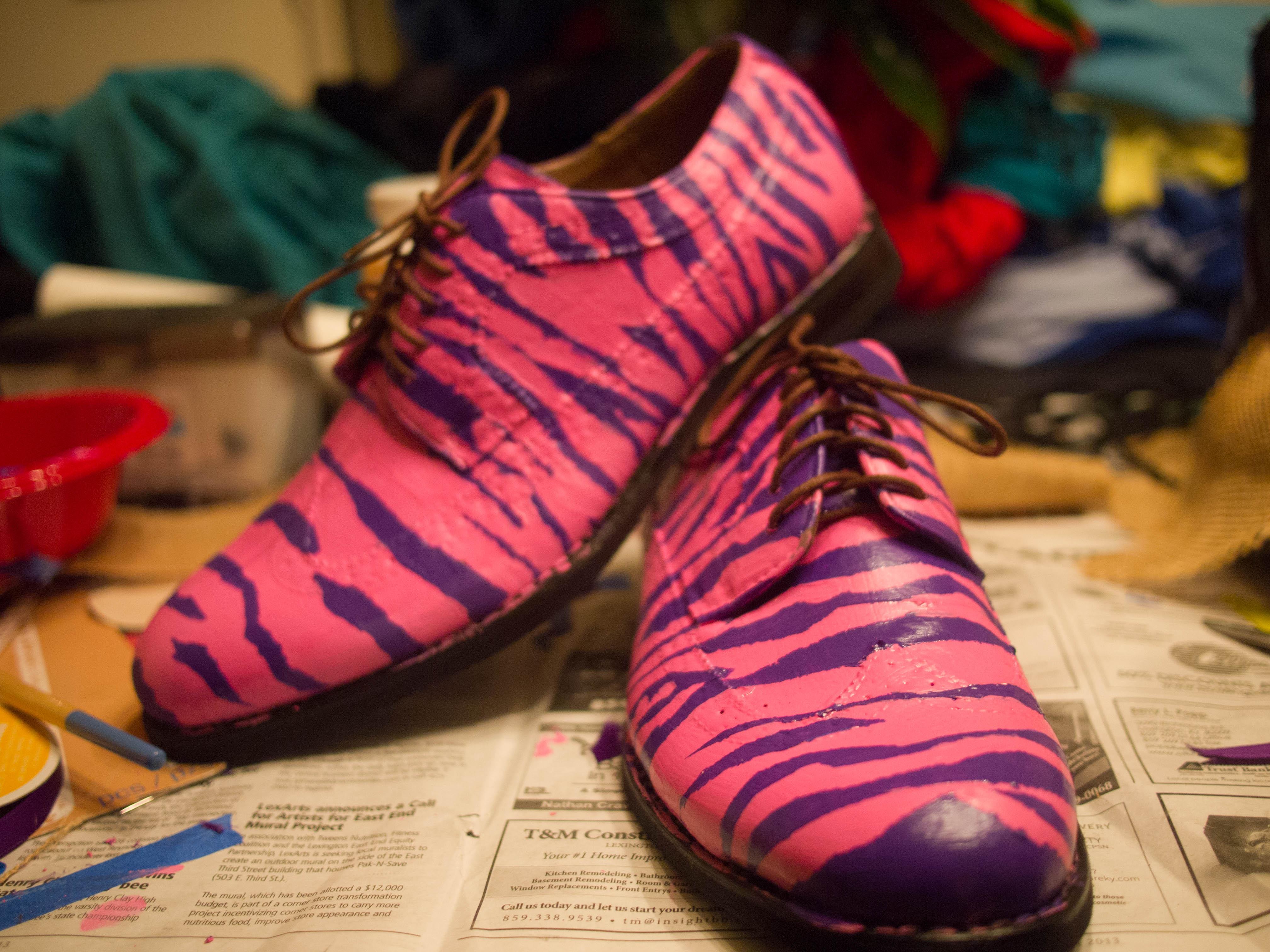 Painting Zebra Stripes on Oxfords