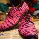 Painting Zebra Stripes on Oxfords