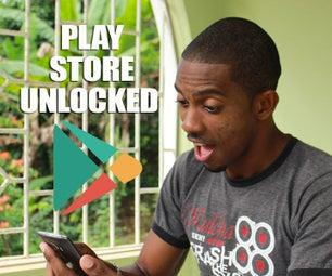 如何解锁播放商店 获取任何应用程序