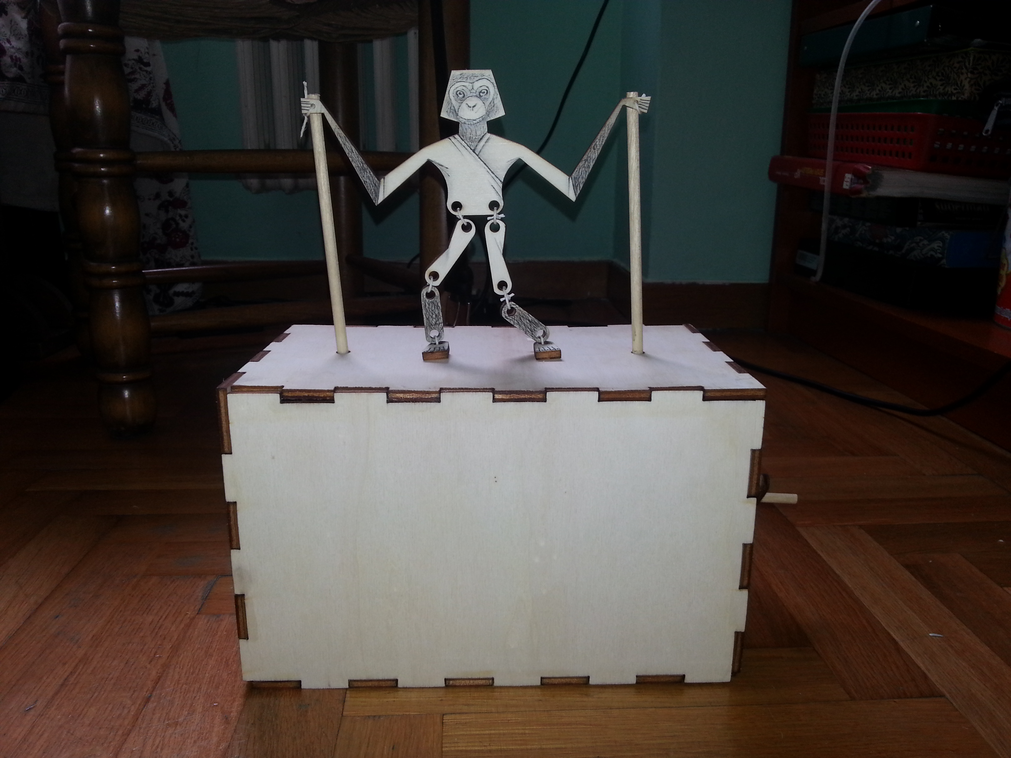 How to create a super dancing monkey with laser cut!!