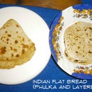 Indian Flat Bread - Phulka/Roti/Chapati (Puffed) and Layered