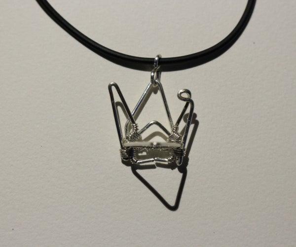 """Wire """"origami"""" Crane Pendant"""
