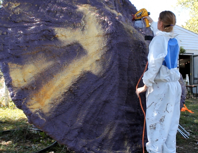 Foaming and Painting the Mushroom