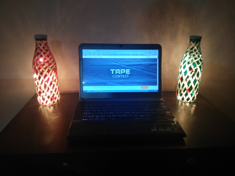 Milk Bottle Night Lamp Using Tape