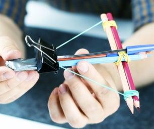 3 Pencil DIY Ideas / How to Make a Crossbow