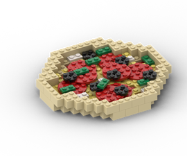 How to Build Lego Pizza - Stop Motion Cooking Prop