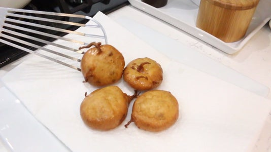 Remove Fried Cookies From Oil