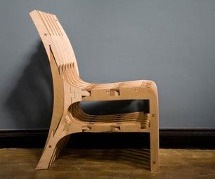 CNC Scissor Chair (Plywood)