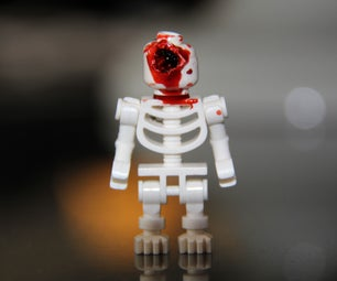 Head-shot Wounded Lego Minifigure