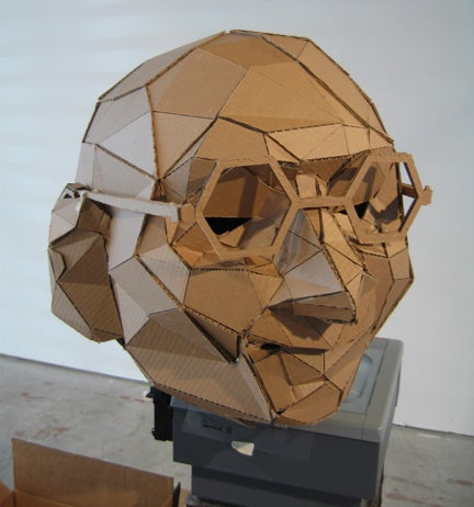 Gandhi: 17' Tall Cardboard Avatar
