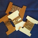 Cardboard Spools - stop necklace chains from tangling FOREVER!