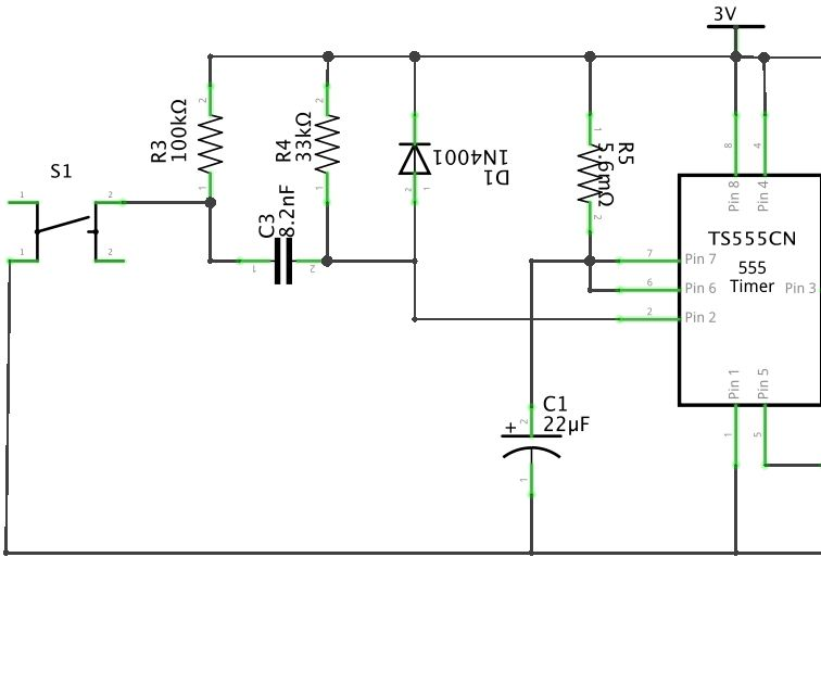 TS 555 timer with trigger network