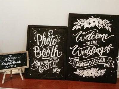 DIY Chalk Board Signs