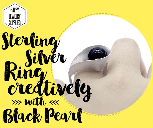 DIY Tutorial - How to Make Sterling Silver Ring Creatively With Black Pearl!