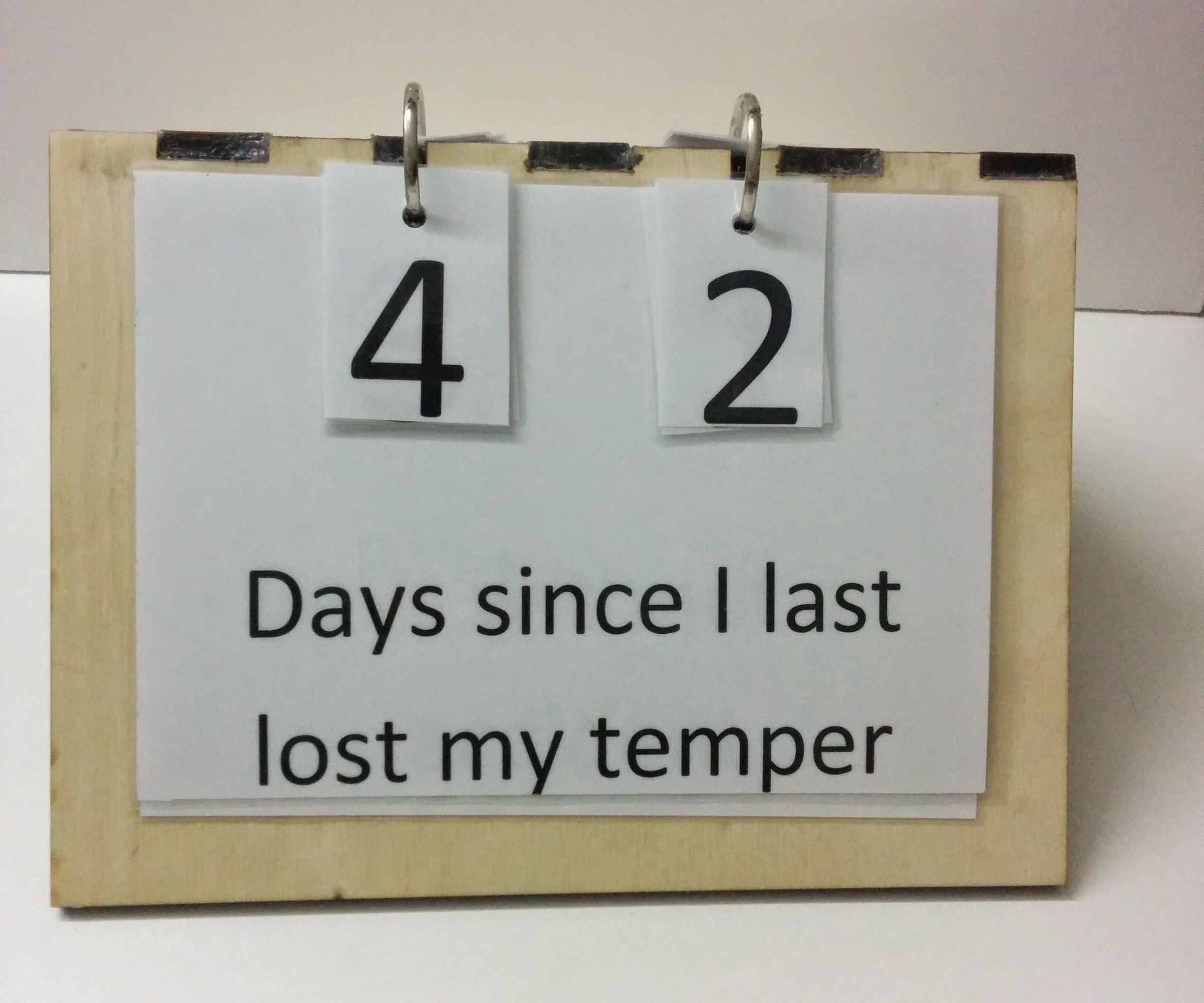 Personalized Days Since Last Accident Sign