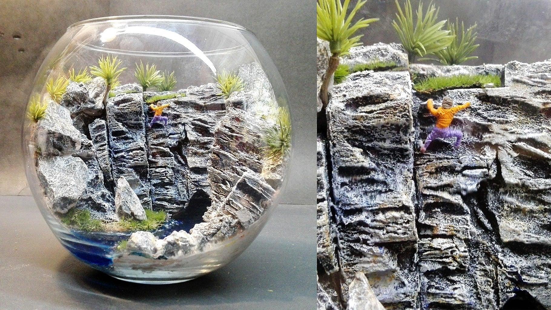 White Hill Diorama   Terrarium   Rock Climbing