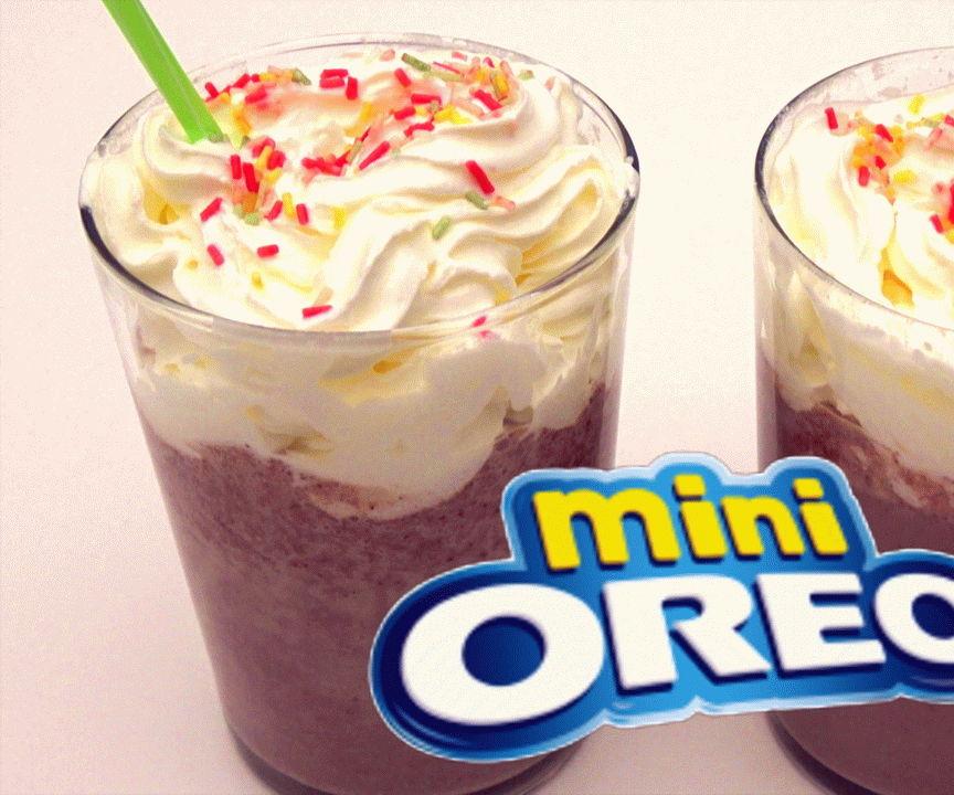 OREO Cookies and Banana milkshake