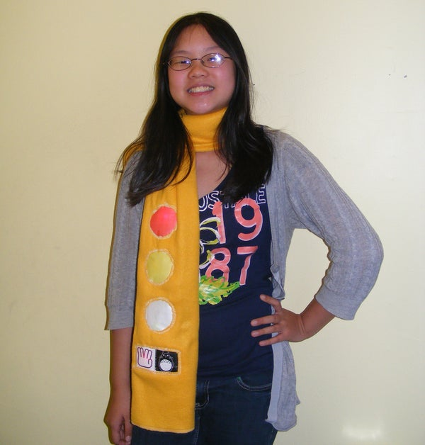 Traffic Light Stoplight LED Scarf - Safety Scarf of Righteousness