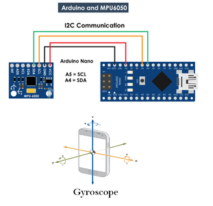 MPU 6050 Gyro,Accelerometer Communication With Arduino (Atmega328p)