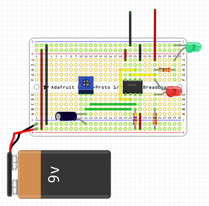 Measuring and Calculating the Frequency of an Astable Oscillator
