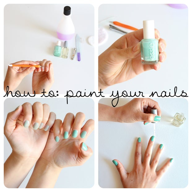 How To Paint Your Nails 9 Steps With Pictures Instructables