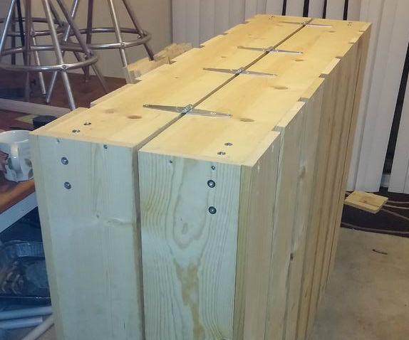DIY folding mattress box