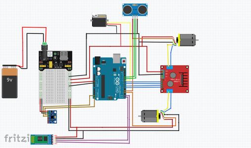 Connect Micro Servo Motor and Ultrasonic Sensor HC SR04 to Arduino