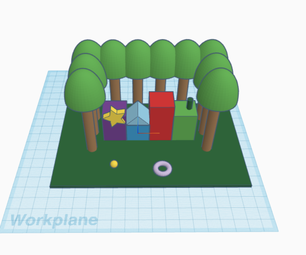 A Park With Tinkercad Code Blocks