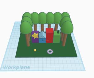 一个有tinkercad代码块的公园