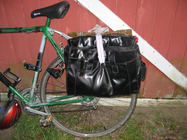 Bike Panniers: Second-hand, Recycled Goodness