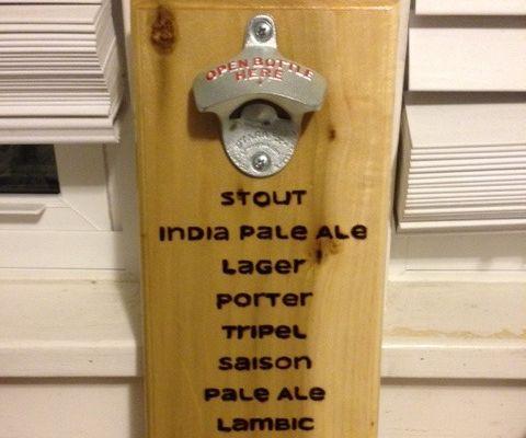 Hand Burnt Beer Types Bottle Opener