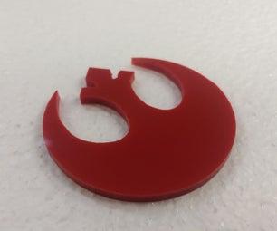 CNC Cutting Rebel Emblem Badge