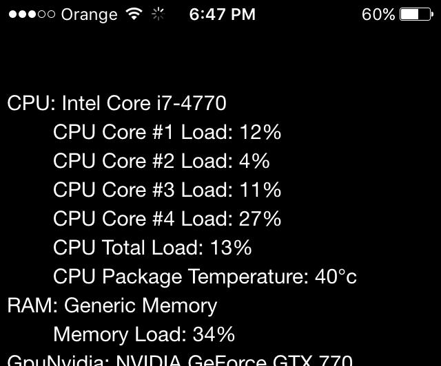 Remote Hardware Monitor