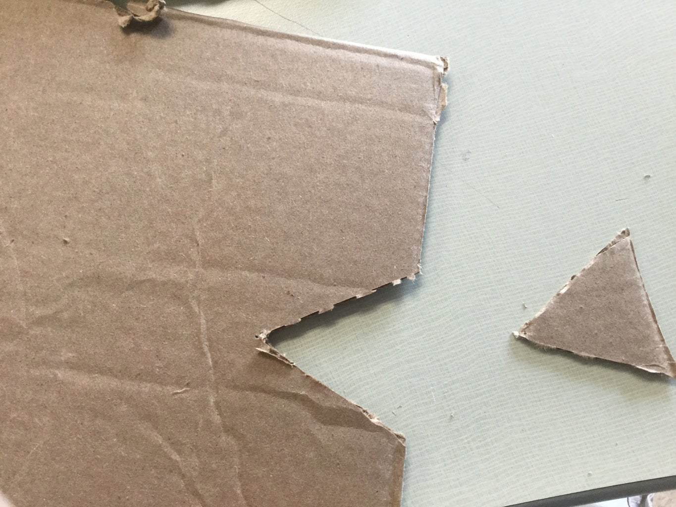 Cutting a V Shape and Glueing the Mousetrap