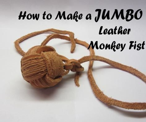 """How to Make a Jumbo Leather Monkey Fist(2"""", 6 Passes)"""