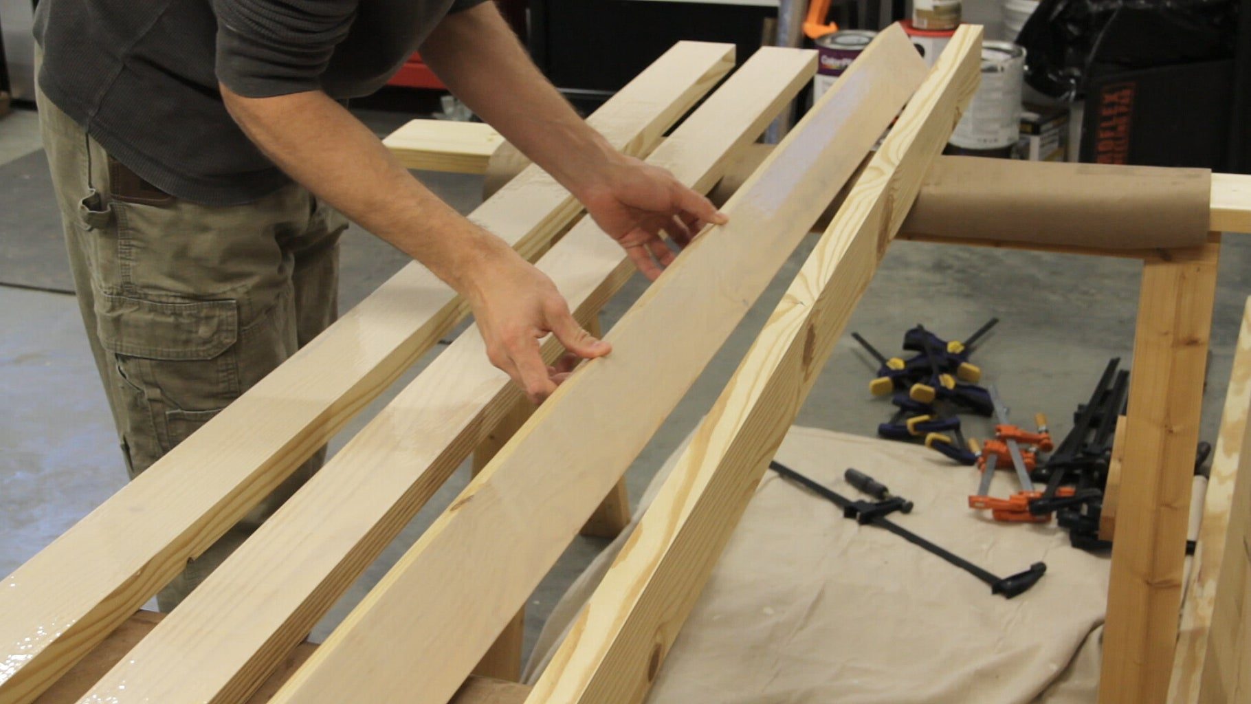 Gluing the Top Sections