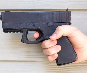Make a Cardboard Glock With Working Parts