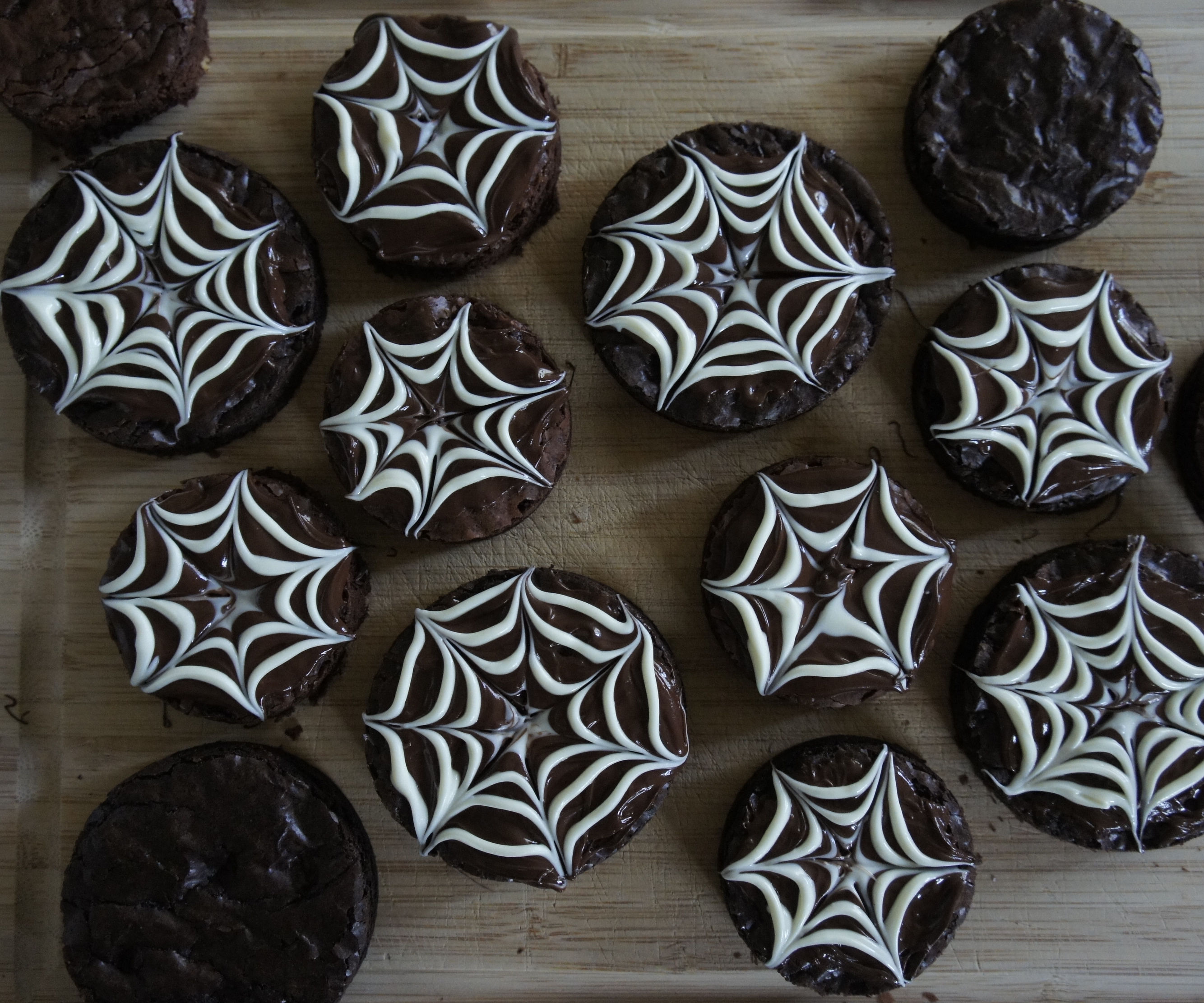 Chocolaty Cobweb Brownies