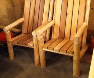 Log and Cedar Chairs
