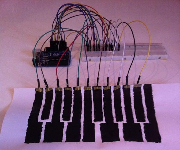 Arduino Touch Capacitive MIDI Keyboard