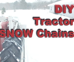 Customized/ DIY Snow Chains for Tractor Tires