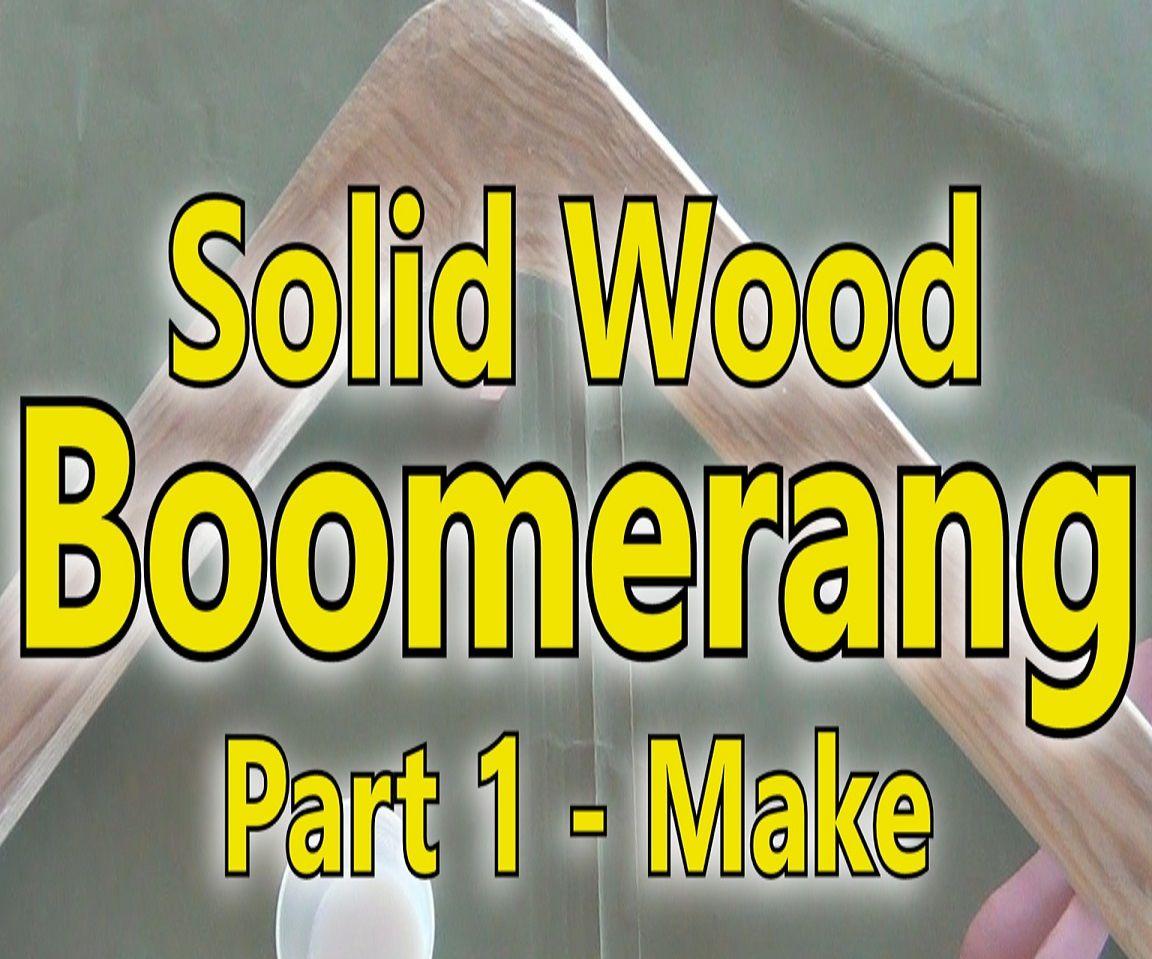 Make a Boomerang From Pallet Wood