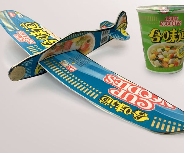 Foam Glider Plane From Cup Noodles