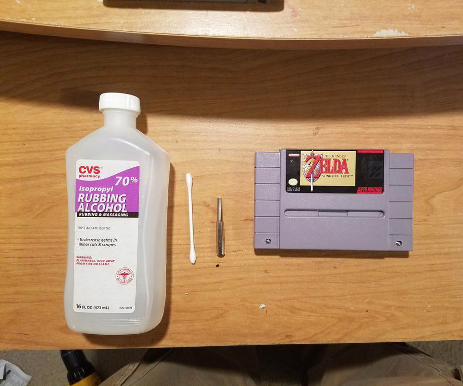 Restoring an SNES Super Nintendo Cartridge
