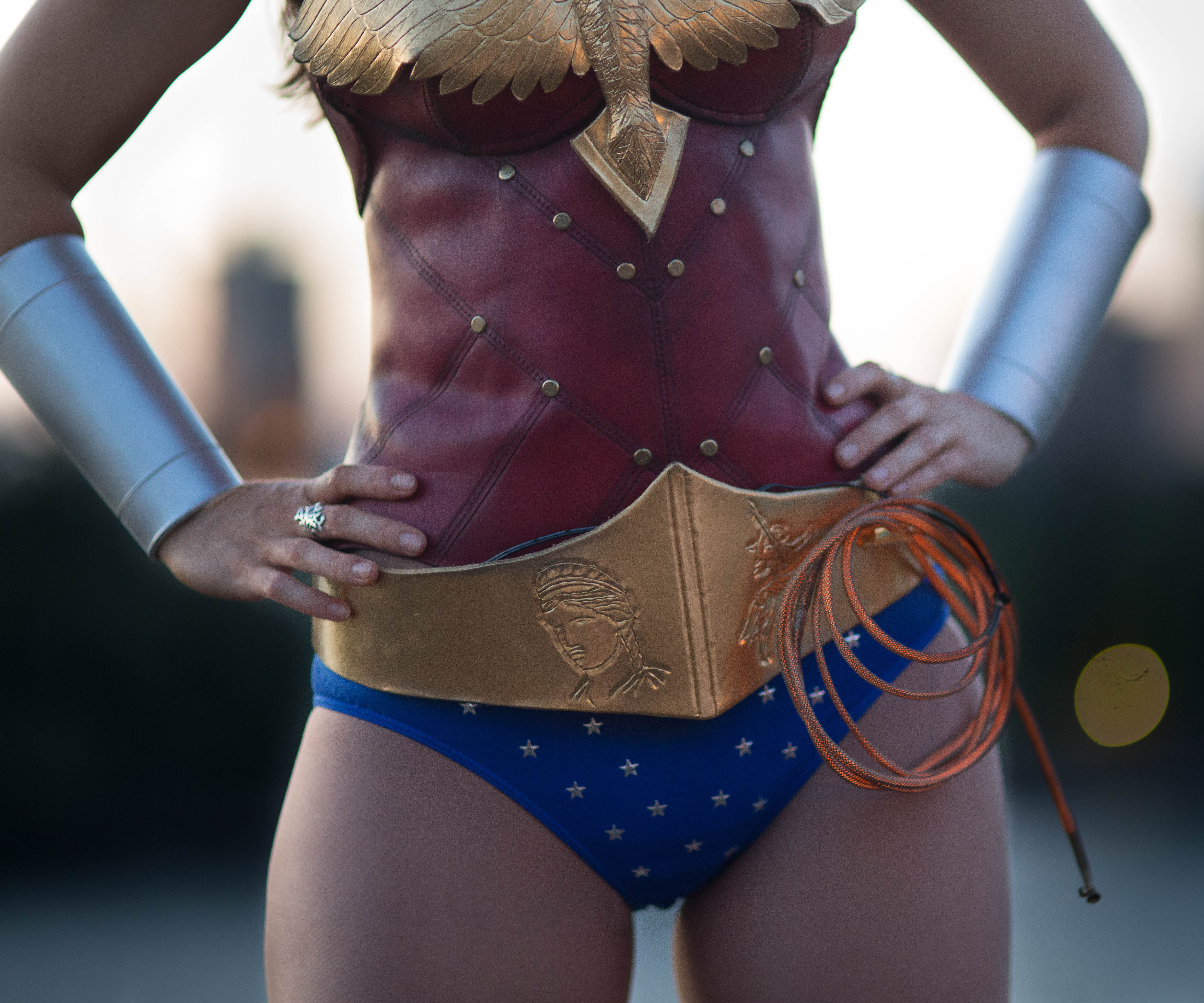 Detailed wonder woman costume