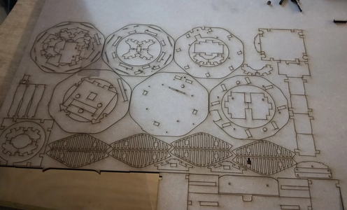 Cutting Out the 6mm Board Using a CNC Laser.