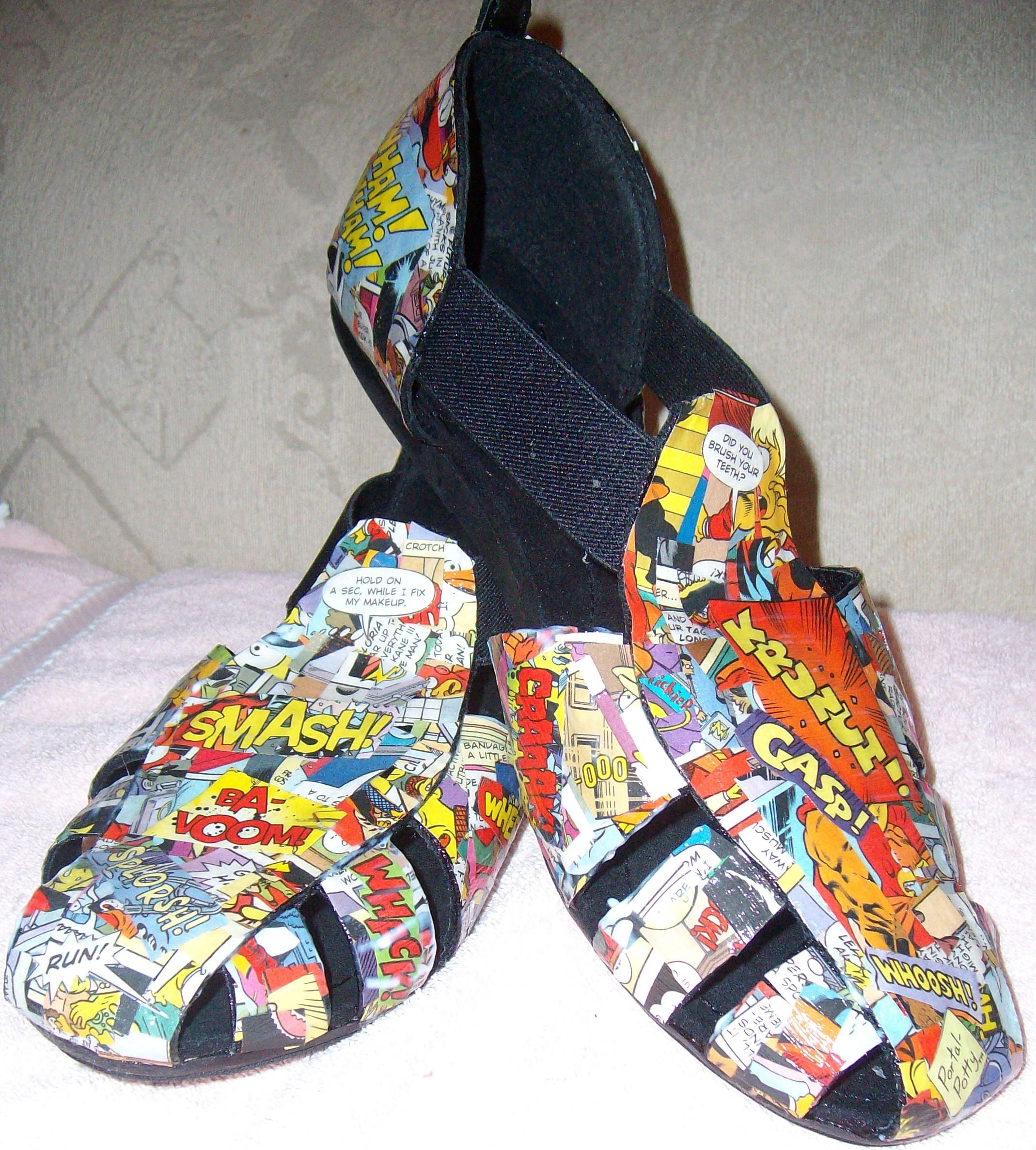 Mod Podge Comic Shoes/Sandals : 10
