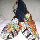 Mod Podge Comic Shoes/Sandals